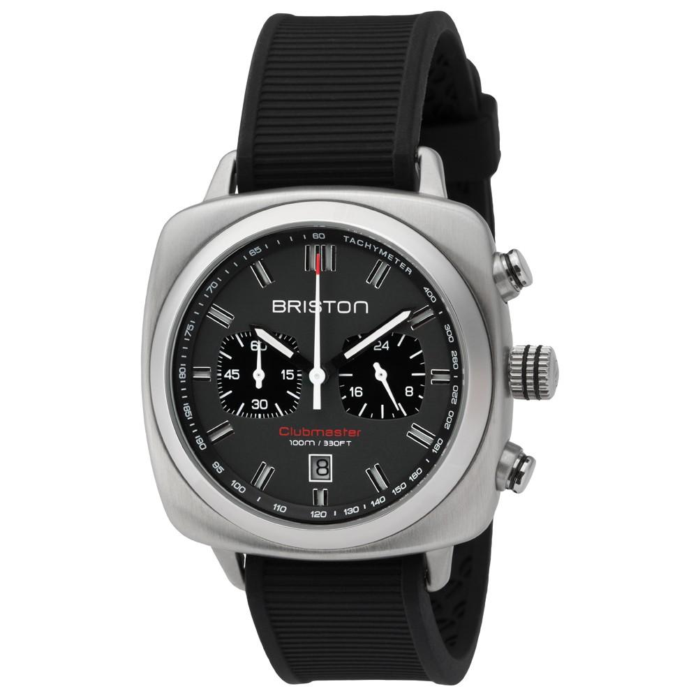 clubmaster-sport-acier-chronographe-cadran-gris-mat