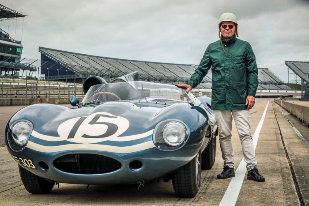 the-perfect-shot-our-friend-mick-a-jaguar-d-type-our-zandvoort-rain-jacket-tony-baker-classic-sports-car